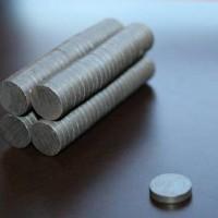 Magnet Hitam /Magnet Kulkas/ Magnet Ferrite Bulat 8 x 2 mm (2 sisi)