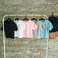 Baju polos crop top / atasan wanita / kaos