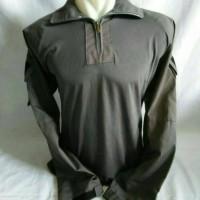 Kemeja Kaos Combat Shirt Abu Tua Blackhawk Militer Super Premium
