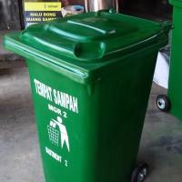 Tong Sampah fiber roda 240 liter