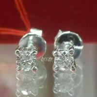 Termurah Anting Solitaire 0,16 Carat Emas Berlian Natural Diamond