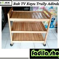 Rak TV Kayu Trully Adindah / Meja Dorong Kayu