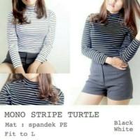 Jual Turtle neck stripe Ls / Atasan wanita / Baju belang Murah