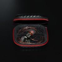 Leather Case Earphone Kulit Headset Cover Tas Kantong Wadah Tempat Bag