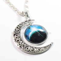 kalung bulan galaksi / galaxy moon necklace GX-02