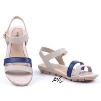 Jual Sepatu Sandal Wanita Platform Ankle Strap AD04 Navy Murah