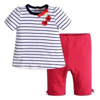 Jual Setelan Anak   Mom n Bab Girl Set Cherry Ribbon Murah
