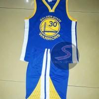 Setelan Jersey Baju Basket NBA anak Impor - GSW 30 CURRY