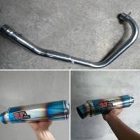 Harga Knalpot Yamaha R15 R9 Mugello Half Blue Fullsystem