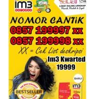 Nomer cantik IM3 kwarted sembilan 0857 19999 xxx cek list murah + 24GB