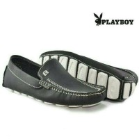 playboy slip on moccasin kulit leather / sepatu santai maen kerja