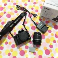 Canon 1000d kit + lensa 18-55mm - kondisi normal