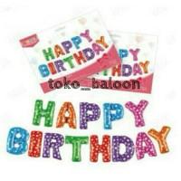 Jual Balon Foil Huruf Set Happy Birthday / Set Huruf HBD Murah