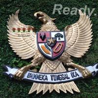 garuda lambang negara republik indonesia kayu jati diameter 40cm