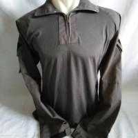 combat shirt/kaos bdu/kaos lapangan dark grey/abu tua combed soft 20s