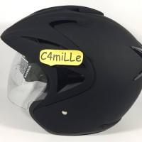 Helm Hiu Arrow Double visor black dop