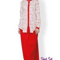 Clover Clothing Skirt Set Alyssa - Red Merah