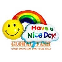 balon foil pelangi / balon have a nice day / balon smile pelangi
