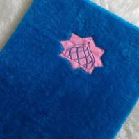 sajadah busa bulu biru muda