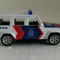 miniatur mercy jeep polisi indonesia pjr