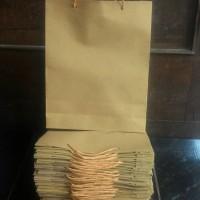 paper bag/ tas kertas kraft coklat 18x5x24
