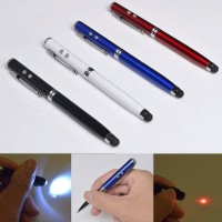 Jual Pen stylus 5 in 1 stylus pad pointer laser led ballpoint lamp android Murah