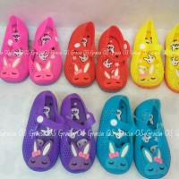 LED Jelly Shoes Premium Kids Bunny - LED Shoes Sepatu bayi anak murah