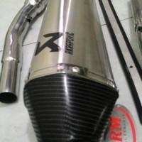 knalpot akrapovic gravir powerboom klx 150/ dtracker trail series