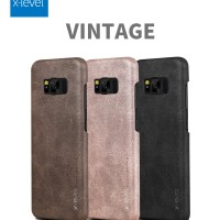 Jual HARDCASE SOFT COVER VINTAGE LEATHER X-LEVEL SAMSUNG GALAXY S8, S8 PLUS Murah