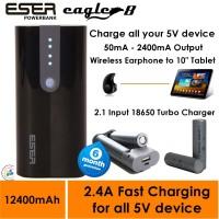 Jual Powerbank ESER Eagle8 12400mAh / Charger Battery Baterai 18650 - 124BT Murah