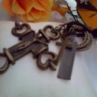 Kalung Salib Perak Bakar
