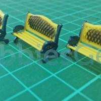 Miniatur Kursi Bangku Taman Diorama 1:87 HO Scale (Model 4)