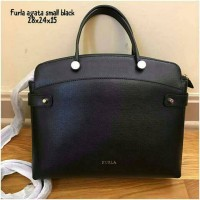 furla agata small black tas original branded asli authentic