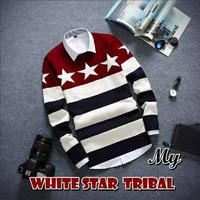 Jual Baju / Sweater Rajut Pria White Star Tribal Murah