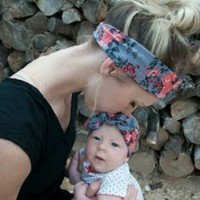Bandana Mom & Me/import # Turban Knot Flower
