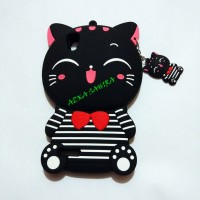 Jual OPPO F1 A35 3D Bowknot Lucky Cat Cartoon Silicone Cases Cover Murah