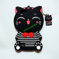 OPPO NEO 7 A33 3D Bowknot Lucky Cat Cartoon Silicone Cases Cover