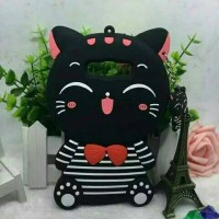 Samsung J510 J5 2016 3D Bowknot Lucky Cat Cartoon Silicone Cases Cover