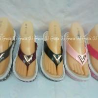 harga Jelly Wedges Premium Gold V - Sandal Jepit Karet Import Jelly Shoes Tokopedia.com