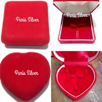 Kotak seserahan gift box kado hantaran hati love perhiasan lamaran