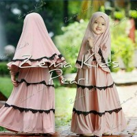 gamis maxi baju muslim anak zema kid pakaian hijab Diskon