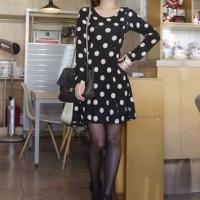 Jual dress polkadot black murah Murah