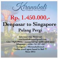 TIKET PROMO PESAWAT AIRASIA BALI/DENPASAR KE SINGAPORE