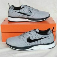 NIKE RUN FLYKNIT RACER GREY BLACK