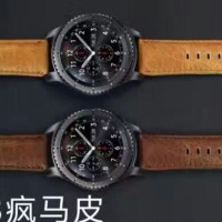RETRO SAMSUNG GEAR S3 CLASSIC, FRONTIER, MOTO 360 LEATHER STAP BAND