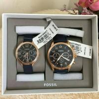 jam tangan pria wanita couple Fossil set watch authentic original