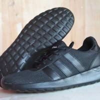 Jual sepatu adidas cloudfoam murah / sepatu sekolah hitam / olahraga lari Murah