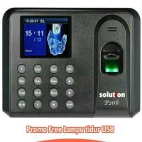 Solution P206 Mesin Absensi Sidik Jari Access Control Fingerprint
