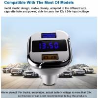 harga Super Car Charger Dual Port Usb Fast Charger 4.8a Dengan Display Tokopedia.com