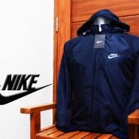 Jaket Parasut Nike Windrunner Sport Olahraga Lari Navy Biru Dongker